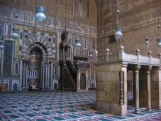 Inside Mosque of Sultan Hassan