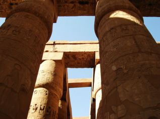 Hypostyle Hall in Karnak temple in Luxor